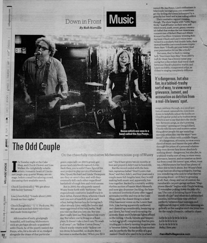 wussy at cake shop in village voice